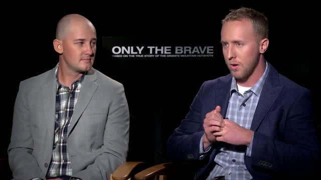 Only The Brave: Cast Real-life Hotshots Interviews